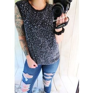 kate spade Tops - Kate Spade speckled relaxed tank top ♠️